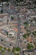 Aerial photograph of Walton town centre