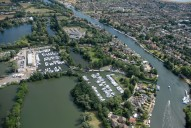 Aerial photograph of Shepperton marina
