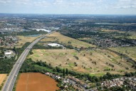 Aerial photograph of M3 and Sunbury