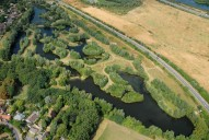 Aerial photograph of Lakes near Shepperton