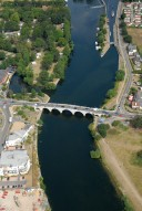 Aerial photograph of Bridge over the Thames at Chertsey