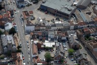 Aerial photograph of Chertsey town centre