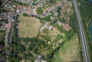 Aerial photograph of Site of former Chertsey Abbey