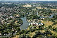 Aerial photograph of Thames at Weybridge