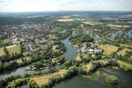 Aerial photograph of Thames and Weybridge