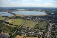 Aerial photograph of Reservoirs and Walton outskirts