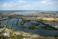 Aerial photograph of Bedfont lakes