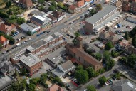 Aerial photograph of Ashford town centre
