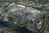Aerial photograph of Staines town centre