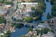 Aerial photograph of Staines Bridge