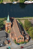 Aerial photograph of Church at Staines