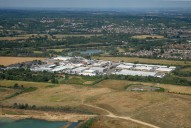 Aerial photograph of Business park near Thorpe