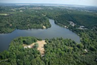 Aerial photograph of Virginia Water lake