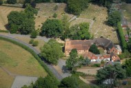 Aerial photograph of Church of St John the Baptist, Windlesham