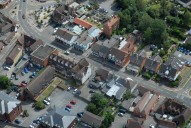 Aerial photograph of Bagshot town centre