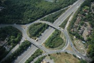 Aerial photograph of M3 junction 3 (Lightwater)