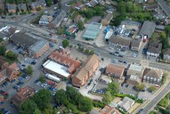 Aerial photograph of Lightwater village centre