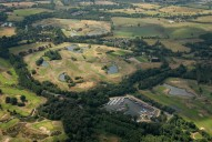 Aerial photograph of Golf course and Pyrford Marina