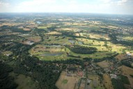 Aerial photograph of Wisley and golf course
