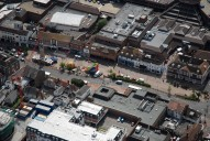 Aerial photograph of Epsom town centre
