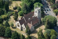 Aerial photograph of Church at Ewell