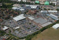 Aerial photograph of Supermarket between Epsom and Ewell