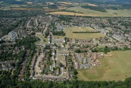 Aerial photograph of View towards Tadworth from Burgh Heath