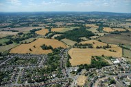 Aerial photograph of View to Leith Hill from south of Reigate