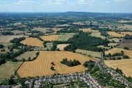Aerial photograph of View to Leith Hill