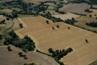 Aerial photograph of Fields south of Reigate