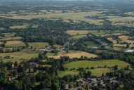 Aerial photograph of View south over South Nutfield and Redhill Aerodrome