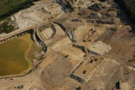 Aerial photograph of Excavation pit between Merstham and Redhill