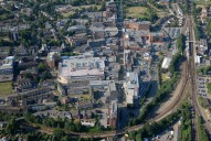 Aerial photograph of Redhill town centre