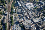 Aerial photograph of Redhill railway station