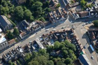 Aerial photograph of Reigate town centre