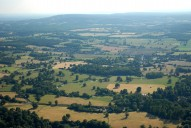 Aerial photograph of View to Leith Hill from near Betchworth