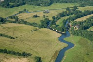 Aerial photograph of Newark Priory, River Wey and Wey Navigation