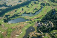 Aerial photograph of Golf course near Pyrford