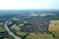 Aerial photograph of M25, Byfleet and Brooklands