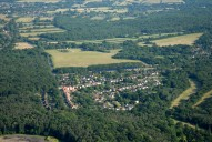 Aerial photograph of Village south of Cobham