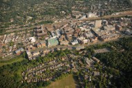 Aerial photograph of Woking