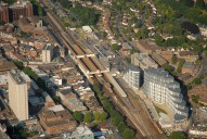 Aerial photograph of Woking railway station