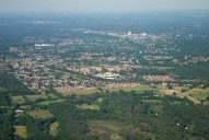 Aerial photograph of View east over Knaphill and Woking
