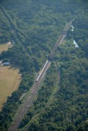 Aerial photograph of Railway line west of Brookwood