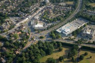 Aerial photograph of Frimley town centre