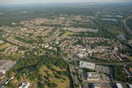 Aerial photograph of Frimley and Frimley Green