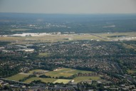 Aerial photograph of Farnborough airport