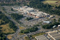Aerial photograph of Meadows supermarkets west of Camberley
