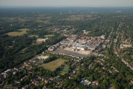 Aerial photograph of Camberley