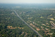 Aerial photograph of M3 near Frimley